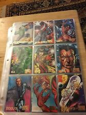 Marvel VS DC Comics 1995 Skybox Trading Card Set NM/M Condition W/ Inserts Pages