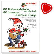 80 Weihnachtslieder aus aller Welt - Songbook für Gitarre - 9783934888142