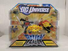 """New listing Wonder Woman vs Aquaman Dc Universe 2.5"""" Action League Flashpoint 2-Pack (2011)"""