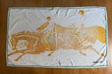 Vintage Hermès Rare Equestrian Printed Cotton Beach Towel
