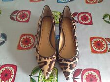 Nine West ladies leopard print kitten heel  shoe size uk 3.5