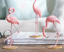 1 pc Resin Pink Flamingo Home Decor Figure Home Decoration Gift Bird Tropical