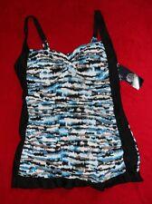 Sea & Sand Swimdress Black/Blue Print size 24