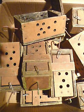 Bait Box Boxes Lot of 6 Crab Lobster Wooden Nautical Marine Ocean Fishing Sea