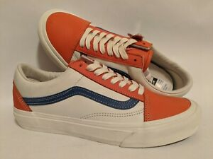 Vans New Old Skool VLT Lx Leather Flame/True Blue Men Size USA 9 UK 8.5 EUR 42