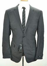 NWT Hugo Boss Men's Jacket Blazer 44R Dark Gray Striped MSRP $895 100% Wool c328