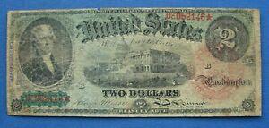 "*NICE LOOKING 1869 SERIES $2.00 RAINBOW NOTE ""SCARCE"" - ESTATE FRESH*"