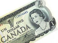 1973 Canada 1 One Dollar IZ Prefix Uncirculated Elizabeth Canadian Banknote K957