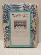 Waverly Charmed Life 0792525 Cornflower Blue Cotton Rod Pocket Valance 52x18