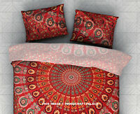 "Urban Outfitters Magical Thinking Painted Peacock Mandala Shams 28X18"" Standard"