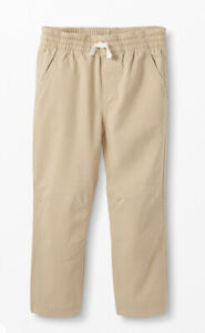 NEW Hanna Andersson Tan Double Knee Canvas Twill Pull On Pants Size 150 12  $34