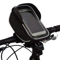 BTR Bike Handlebar Bag Bicycle Phone Holder Bag, Mount & Puncture Repair Patches