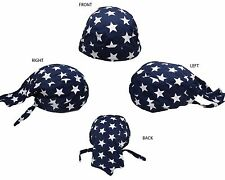 USA American Blue Stars United States U.S. Do Rag Doo Rag Skull Cap Head Wrap