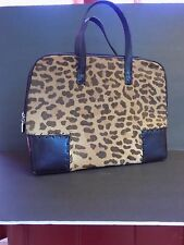 Cole Haan Camel Hair Attache / Doctor Bag Leopard Print