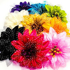 1pcs Multi-Color Daisy Hair Flower Clip Pin Prom Wedding Party Kid Costume A0483