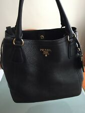 AUTHENTIC LUXURY PRADA SHOULDER HANDBAG BLACK