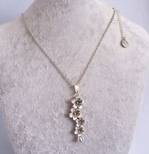 Tibetan Silver Long Flower Pendant Silver Chain Necklace.Handmade