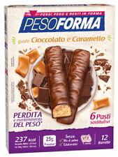 Pesoforma - 12 Barrette Gusto Cioccolato e Caramello - 6 Pasti Sostitutivi