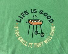 """NWT Life is Good.®_Women's Classic Fit Crusher """"If you grill....."""" S/S Tee, S"""