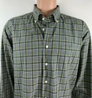 Vineyard Vines Men's Green Pastels Plaid Long Sleeve Button Down Murray Shirt XL