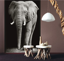 3D Elephant Self-adhesive Removable Wallpaper Wall Mural Sticker