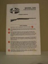 MOSSBERG Model 835 Pump Action Shotgun Owner's Manual