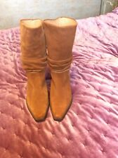 Gabor Tan Suede Boots Size 6 1/2 40