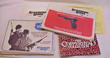 Vintage Crosman 338 Auto Co2 Airgun BB Pistol Gun Manual & Paperwork