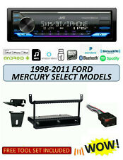 JVC KD-X370BTS Stereo Kit for Select 1998-2011 Ford Mercury Lincoln, ALEXA XM