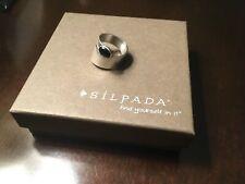 Silpada Black Onyx Oval Stone Wrap Ring  7 R0946