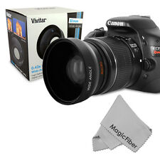 58MM 0.43X HD Wide Angle Lens w/ Macro for Canon Nikon Sony Pentax Olympus DSLR