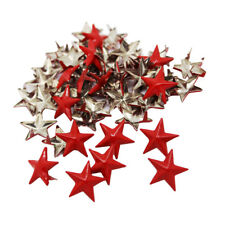 50Pcs Red Metal Star Studs Rivet Claw Nailheads Leathercraft Studs for Craft