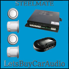 STEELMATE PTS400EX-DP DUAL PURPOSE SILVER 4 SENSOR REVERSE PARKING SENSORS