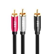 XGODY 1,2m Subwoofer Y-Kabel Cinch RCA Kabel Koaxial HiFi Audio Kabel 3x Cinch