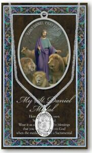St. Daniel Medal Necklace with Embossed Prayer Pamphlet and Two Free Holy Cards