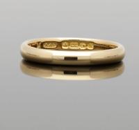 VINTAGE 22CT ROSE GOLD WEDDING RING - 1934