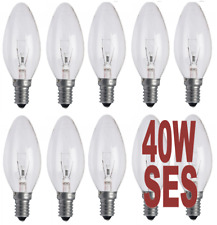 10 X 40W INCANDESCENT CANDLE SES - E14 CLEAR 240V