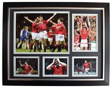 Gary Pallister Signed Autograph 16x12 framed photo display Manchester United COA