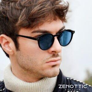 2020 Men Polarized Sunglasses Vintage Round Frame Light Sun Glasses steampunk