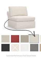 """Pottery Barn """"Slipcover� for Pb Build Your Own Air Roll Armless Chair Piece New"""