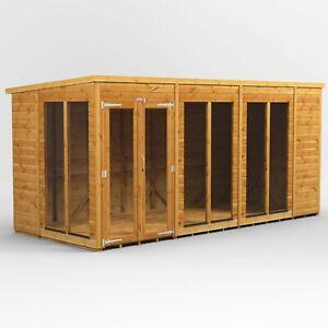 Power Pent Summerhouse l Power Sheds l Summerhouse Size 14x6, 16x6, 18x6, 20x6