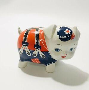 Sadler Pig Money Box Ceramic School Uniform Piggy Bank Collectable