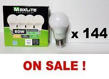 144 Bulb NEW Maxlite 9.5w LED Light Bulb (60w replace CFL) A19 Warm White 2700K