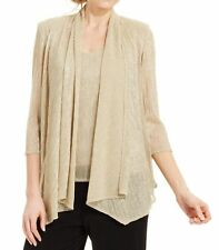 R&M Richards NEW Gold Women's Size Small Blouse Twinset $69