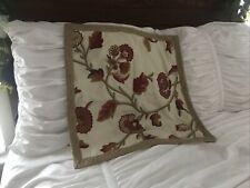 """Pottery Barn 22"""" Square Crewel Pillow Cover"""