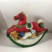 Vintage Porcelain Rocking Horse Coin Piggy Bank