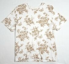 """White Stag Floral Print T Shirt - Womens L (12/14) (C42"""" V23"""") - Pre-owned"""