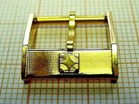 Boucle ZENITH 14 mm watch buckle gold plated plaqué or strap montre Swiss 70 80s