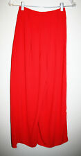 NEW Womens FLYING TOMATO Solid Red Wide Leg Bottom Dress Pants XS NWT