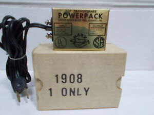 NOS Boxed Marx Road Racing HO Powerpack Toy Transformer #1908 8 volts DC train